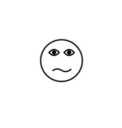 confused emotion icon vector image