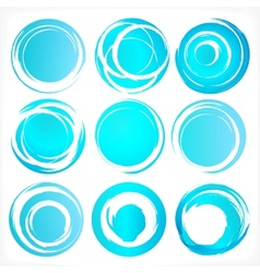 Design elements in blue colors icons Set 3 vector image vector image