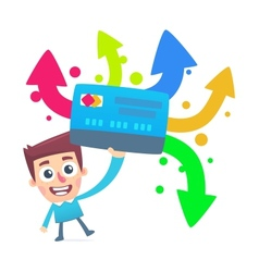 Different ways to use a plastic card vector