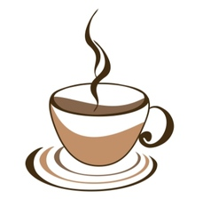 icon of cup of coffee vector image