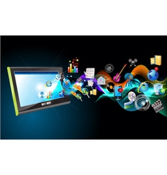 ipad and icons vector image vector image