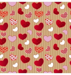 Red Vintage Love Valentins Day Seamless Pattern vector image