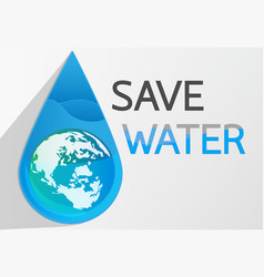 save water2 vector image vector image