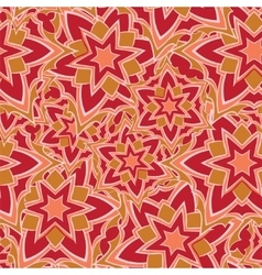 Seamless pattern with red cartoon stars vector image