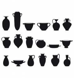 old pottery vector image