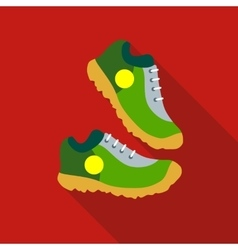 Sneakers icon flat style vector image