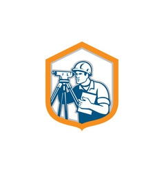 Surveyor geodetic engineer survey theodolite vector
