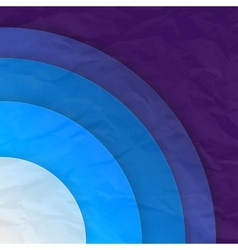 Abstract blue circles background vector image vector image