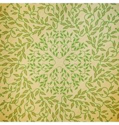 Abstract green color wooden design circle made vector