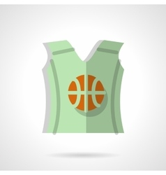 Basketball sleeveless shirt flat color icon vector image