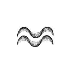 Hand drawn aquarius zodiac sign vector