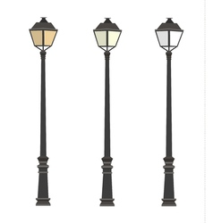 Lamppost Lanterns Street lights Lamp post vector image