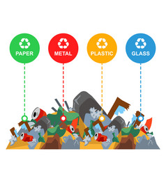A large pile rubbish vector