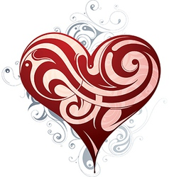 Abstract love heart design vector