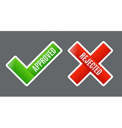 Approved and Rejected vector image