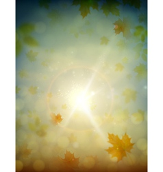 Autumn sky vector
