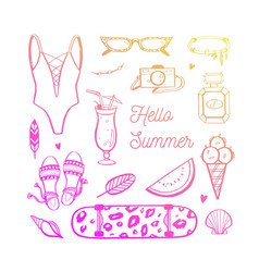 Background summer fashion trends vector