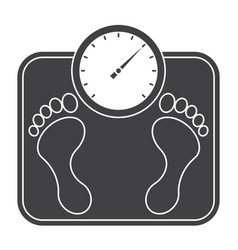 Bathroom scales icon vector