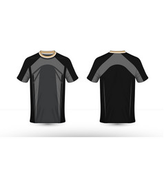 Black and grey layout e-sport t-shirt design vector