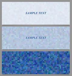 Blue tiled rectangle pattern banner design set vector