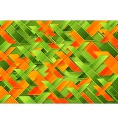 Bright green orange tech corporate background vector