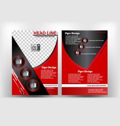 brochure design red and dark elegance theme vector image