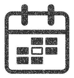 Calendar Date Grainy Texture Icon vector