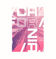 california graphic summer t-shirt design vector image