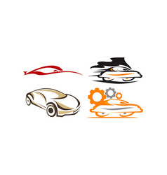 car solution template set vector image