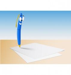 Cartoon pen write vector