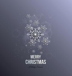 Christmas paper snoflakes vector