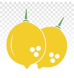 Citrus lemon fruit flat color icon for apps vector