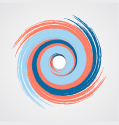 Color spiral swirl with brush vector