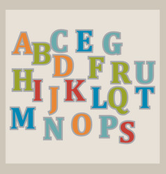 colorful alphabet design vector image