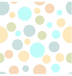 colorful circles seamless pattern vector image