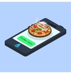 Concept of online pizza order vector