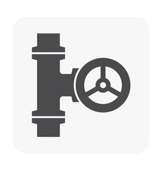 Control valve icon vector