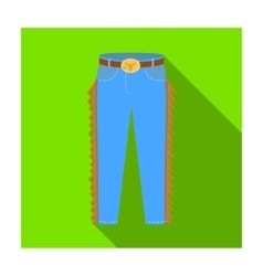 Cowboy jeans icon in flat style isolated on white vector