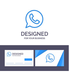 Creative business card and logo template app chat vector