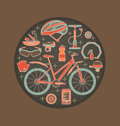 Creative of active lifestyle vector