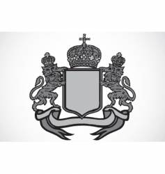 crest and crown vector image