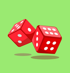 dice gaming sign vector image