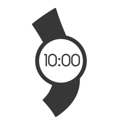 Digital smart watch time screen vector