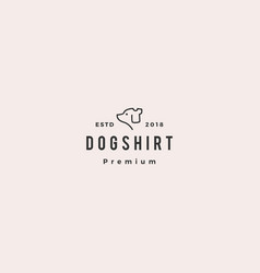 dog shirt logo icon vector image