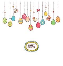 Easter hang eggs vector image