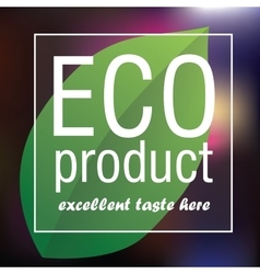 Eco Product poster abstract background vector image