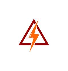 electric warning logo vector image