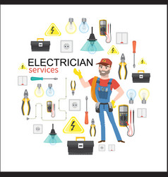 electrician services professional electrician vector image