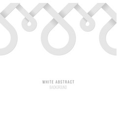 Endless abstract white background vector