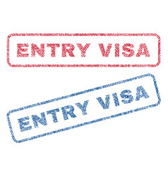 Entry visa textile stamps vector